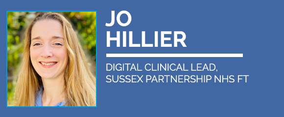 Jo Hillier, digital clinical lead at Sussex Partnership NHS is a speaker at Digital Health Virtual Summer School